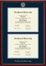 Northwood University in Michigan Diploma Frame - Double Diploma Frame in Galleria