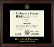 University of Washington Diploma Frame - Gold Embossed Diploma Frame in Studio Gold