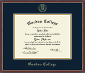 Gordon College in Georgia Diploma Frame - Gold Embossed Diploma Frame in Kensit Gold