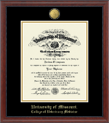University of Missouri Columbia Diploma Frame - 23K Medallion Diploma Frame in Signature