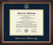 University of Pittsburgh at Bradford Diploma Frame - Gold Embossed Diploma Frame in Regency Gold