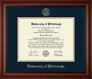 University of Pittsburgh at Bradford Diploma Frame - Gold Embossed Diploma Frame in Cambridge