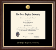 Johns Hopkins University Diploma Frame - 23K Medallion Diploma Frame in Hampshire