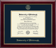 University of Pittsburgh at Bradford Diploma Frame - Gold Embossed Diploma Frame in Gallery
