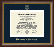 University of Pittsburgh at Bradford Diploma Frame - Gold Embossed Diploma Frame in Hampshire