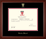 Groton School in Massachusetts Diploma Frame - Gold Embossed Diploma Frame in Cambridge