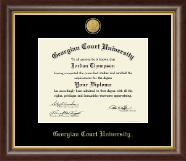 Georgian Court University Diploma Frame - 23K Medallion Diploma Frame in Hampshire