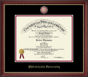 Philadelphia University Diploma Frame - Masterpiece Medallion Diploma Frame in Kensington Gold