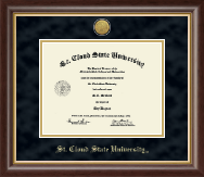 St. Cloud State University Diploma Frame - Gold Engraved Medallion Diploma Frame in Hampshire