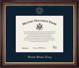 United States Navy Certificate Frame - Gold Embossed Certificate Frame in Regency Gold