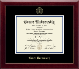 Grace University Diploma Frame - Gold Embossed Diploma Frame in Gallery