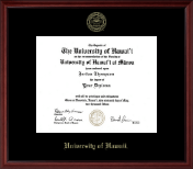 University of Hawaii at Manoa Diploma Frame - Gold Embossed Diploma Frame in Camby