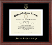 Midland Lutheran College Diploma Frame - Gold Embossed Diploma Frame in Signature