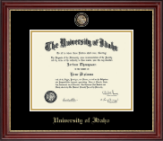 University of Idaho Diploma Frame - Masterpiece Medallion Diploma Frame in Kensington Gold