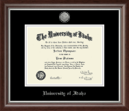 University of Idaho Diploma Frame - Silver Engraved Medallion Diploma Frame in Devonshire