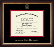 Arkansas State University at Jonesboro Diploma Frame - Gold Embossed Diploma Frame in Regency Gold