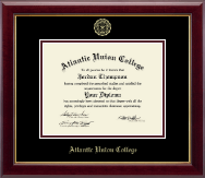 Atlantic Union College Diploma Frame - Gold Embossed Diploma Frame in Gallery