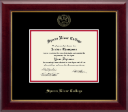 Spoon River College Diploma Frame - Gold Embossed Diploma Frame in Gallery
