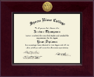 Spoon River College Diploma Frame - Century Gold Engraved Diploma Frame in Cordova