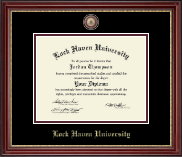 Lock Haven University Diploma Frame - Masterpiece Medallion Diploma Frame in Kensington Gold