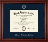 Mount Aloysius College Diploma Frame - Silver Embossed Diploma Frame in Cambridge