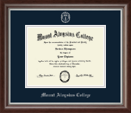 Mount Aloysius College Diploma Frame - Silver Embossed Diploma Frame in Devonshire