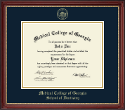 Medical College of Georgia Diploma Frame - Gold Embossed Diploma Frame in Kensington Gold