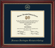 Florence-Darlington Technical College Diploma Frame - Gold Embossed Diploma Frame in Kensington Gold