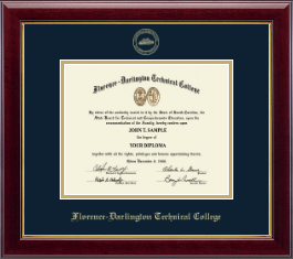 Florence-Darlington Technical College Diploma Frame - Gold Embossed Diploma Frame in Gallery