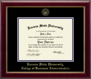 Kansas State University Diploma Frame - Gold Embossed Diploma Frame in Gallery