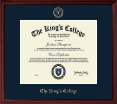 The King's College in New York City Diploma Frame - Embossed Diploma Frame in Camby