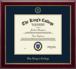 The King's College in New York City Diploma Frame - Embossed Diploma Frame in Gallery