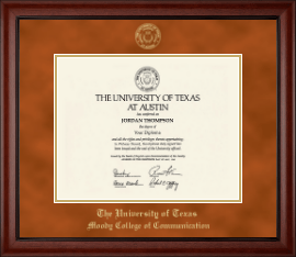 the university of texas at austin moody college of communication  the university of texas at austin diploma frame gold embossed diploma frame in cambridge
