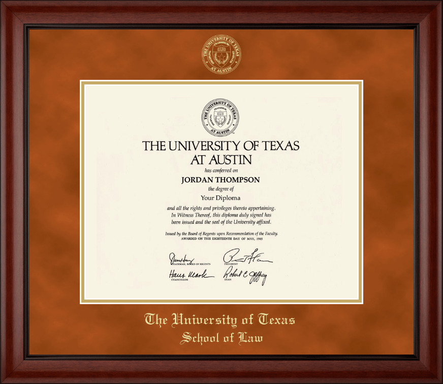 The University of Texas at Austin Gold Embossed Diploma Frame in Cambridge - Item #129167-UTL ...