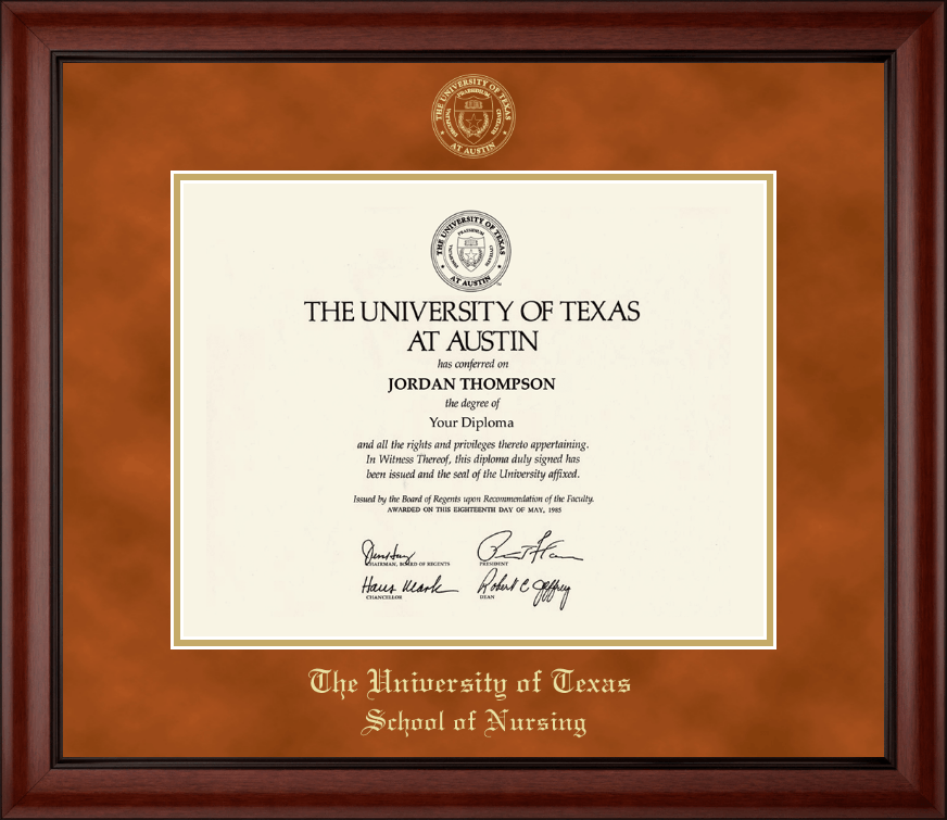 The University of Texas at Austin Gold Embossed Diploma Frame in ...