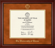 The University of Texas Austin Diploma Frame - Gold Embossed Diploma Frame in Cambridge