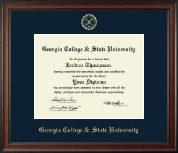 Georgia College & State University Diploma Frame - Gold Embossed Diploma Frame in Studio