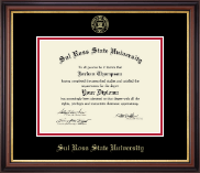 Sul Ross State University Diploma Frame - Gold Embossed Diploma Frame in Regency Gold