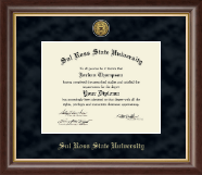 Sul Ross State University Diploma Frame - Gold Engraved Medallion Diploma Frame in Hampshire