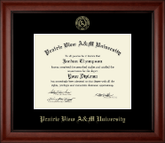 Prairie View A&M University Diploma Frame - Gold Embossed Diploma Frame in Cambridge