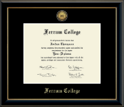 Ferrum College Diploma Frame - Gold Engraved Medallion Diploma Frame in Onyx Gold