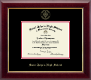 Saint John's High School Diploma Frame - Gold Embossed Diploma Frame in Gallery