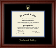 Landmark College Diploma Frame - Gold Embossed Diploma Frame in Cambridge