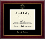Cornell College Diploma Frame - Gold  Embossed Diploma Frame in Gallery