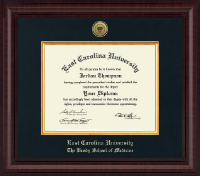 East Carolina University Diploma Frame - Presidential Gold Engraved Diploma Frame in Premier