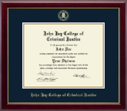 John Jay College of Criminal Justice Diploma Frame - Gold Embossed Diploma Frame in Gallery