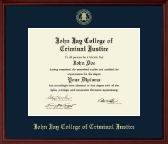 John Jay College of Criminal Justice Diploma Frame - Gold Embossed Diploma Frame in Camby