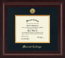 Marist College Diploma Frame - Presidential Gold Engraved Diploma Frame in Premier