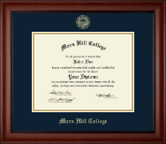 Mars Hill College Diploma Frame - Gold Embossed Diploma Frame in Cambridge