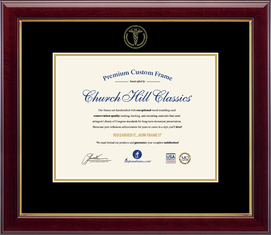 Medical School Diploma Frames And Gifts Gold Embossed